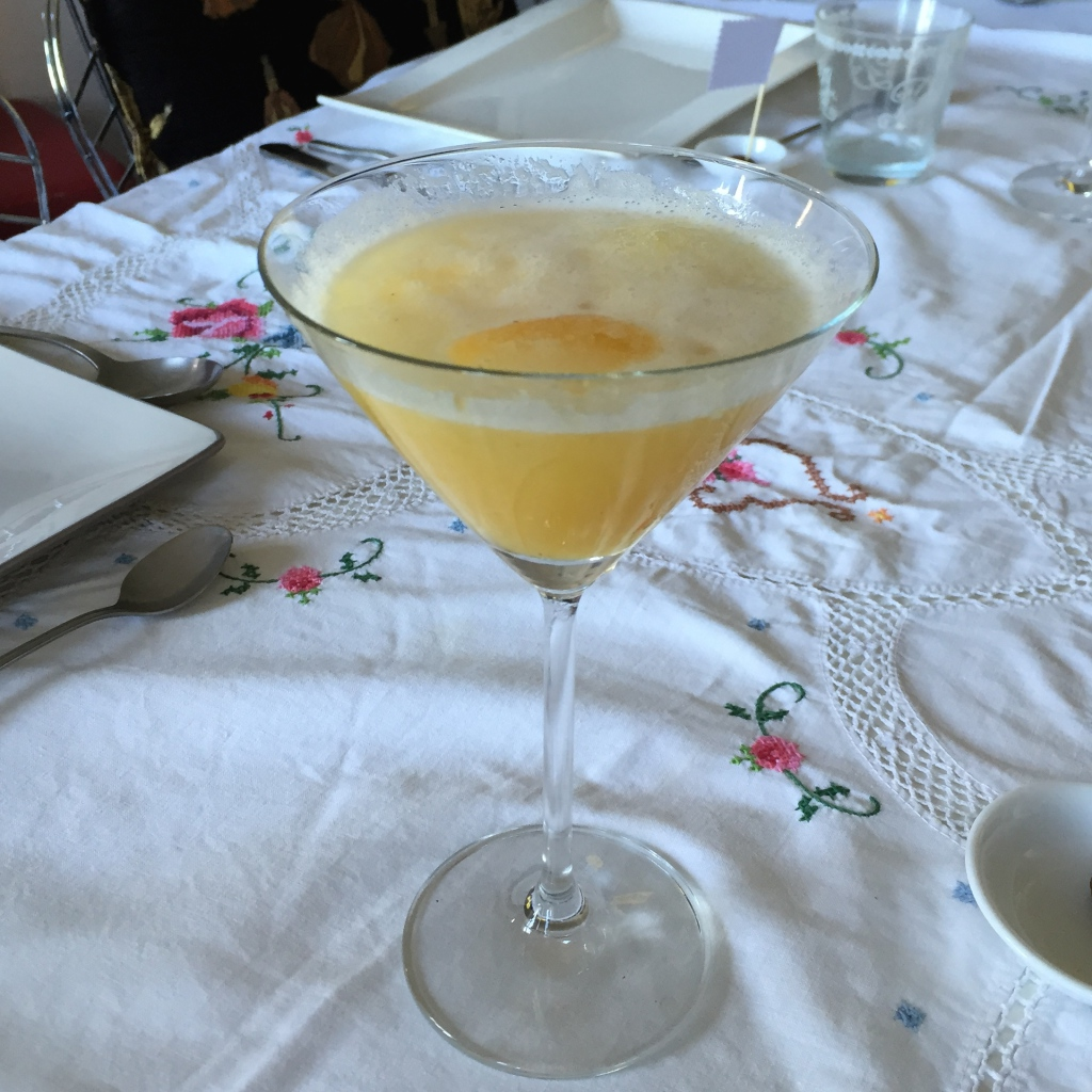 Cocktail de cava y piña