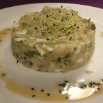 Tartar de pez mantequilla